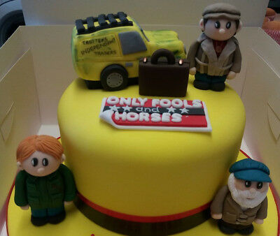 Edible handmade unofficial Only fools and horses cake topper full set