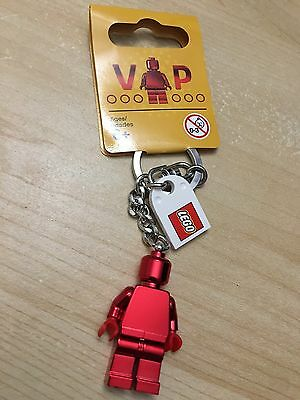 Brand New Lego VIP Exclusive Red Chrome Keyring 2017 Valentine/'s Day 5005205