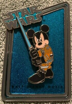 Disney 2011 Star Wars Weekends Statue & Pin Series Mickey Jedi Le 1977 Pin Only