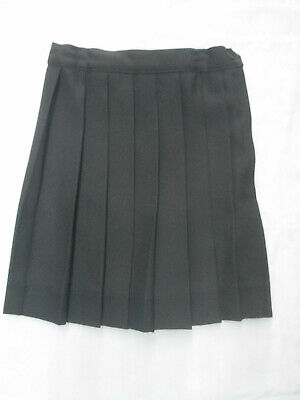 Girls A+ Black Knife Pleated Uniform Skirt Made In The USA Sizes 6 - 16