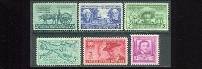 1949 US Commemorative Year Set (6 Stamps) ~ MNH