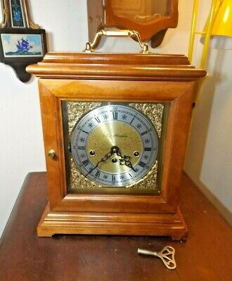 Gorgeous New Hampshire Franz Hermle Westminster Chime Mantle Clock 8-Day Servicd
