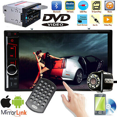 2 DIN For Android Car Radio GPS Navigation FM Stereo Multimedia Player w/ Camera
