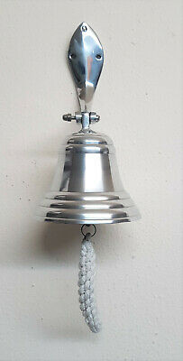 """4""""1/4 Last Orders Wall Mounted Chrome Silver Door Bell Ships Bell"""