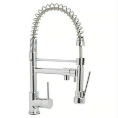 Cooke & Lewis Bilbrough Chrome effect Kitchen Side lever spring neck Mixer tap