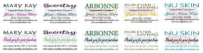 BUSINESS CARDS 50 & THANK YOU CARDS 50 Mary Kay Scentsy Arbonne Nu Skin Forever