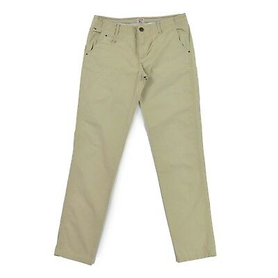 TOMMY HILFIGER Denim Damen Hose W30 L34 Chino DEMI HOC Pale Khaki Woman pants