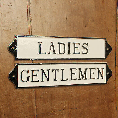 LADIES & GENTS TOILET DOOR SIGN ANTIQUE VINTAGE PUB CAFE RESTAURANT BATH16&17-wh