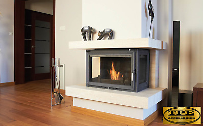 OLIWIA 18 - Three sided Cast Iron Fireplace insert