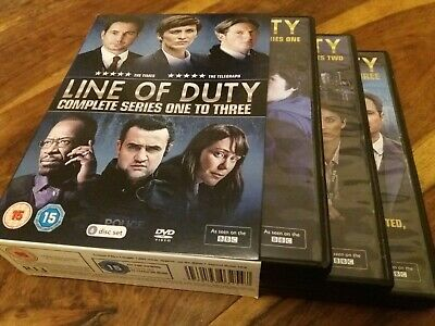 Line Of Duty Complete First To Third Series Seasons 1 2 3 UK 6 Disc DVD Boxset