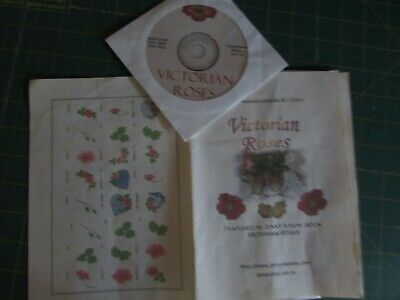 Machine Embroidery Multi Format CD-Victorian Roses-Jenny Haskins