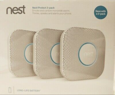 Nest Protect 2nd Gen Smoke and Carbon Monoxide Alarm - 3 Pack