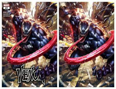 Venom #21 Derrick Chew Trade/Virgin Variant Set Limited To 800 Sets With Coa
