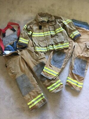 Globe Firefighting COAT & 2 OVERALLS (1 insulated w suspenders) US shipping only