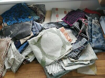 Job lot bundle of different types of material fabric craft off cuts LOT 222