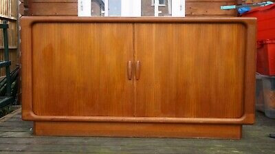 DANISH retro vintage Dyrlund Tambour Sideboard solid teak mid century *delivered