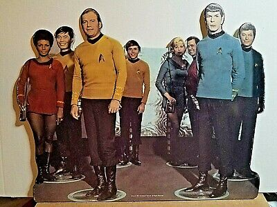 "Star Trek 1960's The Bridge Crew Tabletop Display Standee 10.5"" L 1991"