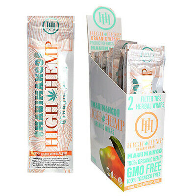 High Hemp Organic Wrap Mauimango Full Box 25 Pouches, 2 Wraps per Pouch