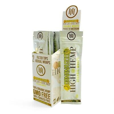High Hemp Organic Wrap Bananagoo Full Box 25 Pouches, 2 Wraps per Pouch
