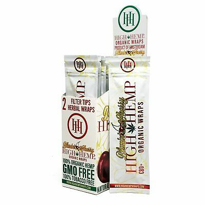 High Hemp Organic Wrap Blazin' Cherry Full Box 25 Pouches, 2 Wraps per Pouch