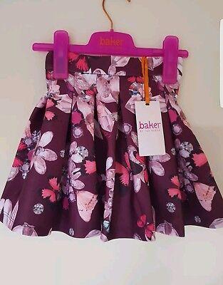 Ted Baker Girls butterfly floral Pleat Skirt set with sizes. Designer