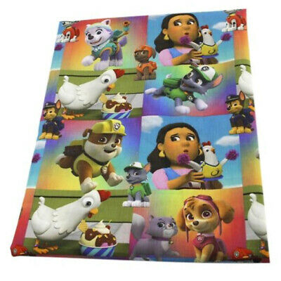 FABRIC WEINER DOG HOTDOG PUPPY AS FOOD PRINT POLYCOTTON BLEND 50X145 CM//20X58 IN