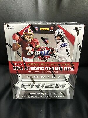 2019 Panini Prizm Football Retail Mega Box.~ 1 Auto Per Box.~
