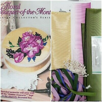 Floral Bouquet-of-the-Month - Flower Ribbon Embroidery Kit -OOP Hidden Treasures
