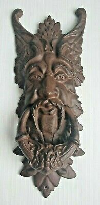 Green Man Gargoyle Door Knocker Cast Iron ~ Large 19.5""