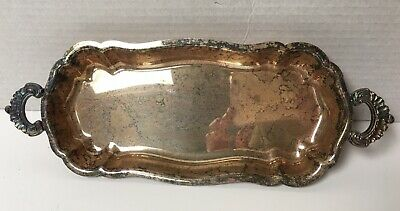 Vintage EPCA BRISTOL SILVERPLATE By POOLE Footed Serving Tray with Handles