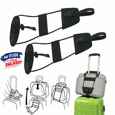 Adjustable Tape Suitcase Travel Tie Bag Carry Bungee Luggage Strap Belt On