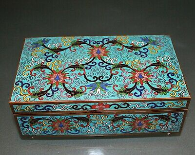 A beautiful 19th/20th century late Qing Chinese cloisonne cigar box 445