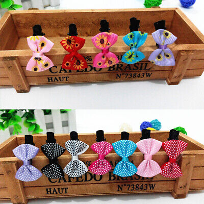 10pcs Infant Baby Girl Grosgrain Ribbon Hair Bows With Toddler cce Clips X2R1