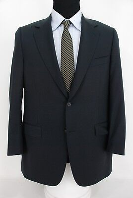 Canali Recent Brown Label 2Btn Suit Jacket Sport Coat Navy Blue Wool 40R