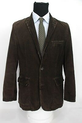 J.Crew 3Btn Men's Brown Corduroy Sport Coat Jacket Medium 40R