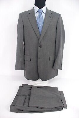 Jos. A. Bank Signature Collection 2Btn Gray Herringbone Wool Suit 41L