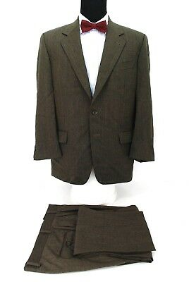 Joseph Abboud 2Btn Men's Suit Brown Herringbone Wool 40R