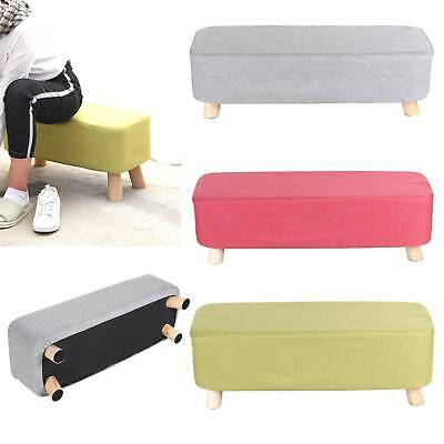 LinenFabric Footstool Foot Rest Stool Pouffe Ottoman Seat Living Room Furniture