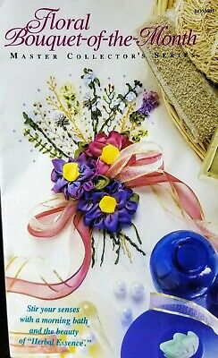 Floral Bouquet-of-the-Month - Flower Ribbon Embroidery Kit -OOP Herbal Essence
