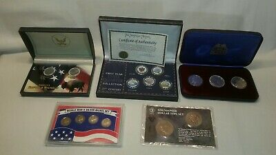 ☆ Lot Various Coin /Silver Collector Coins / 2003 Space Shuttle /Ww2/2001 Etc