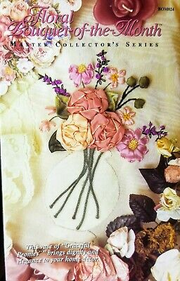 Floral Bouquet-of-the-Month - Flower Ribbon Embroidery Kit -OOP Graceful Peonies