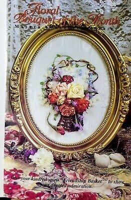 Floral Bouquet-of-the-Month - Flower Ribbon Embroidery Kit-OOP Friendship Basket