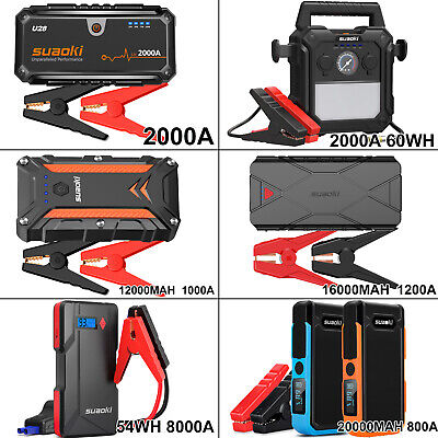 20000mAh 2000A Car Jump Starter Booster Smart USB Battery Charger Power Bank AU