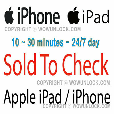 Apple iPhone Check SOLD to by info check by IMEI Checker Simple Report Service