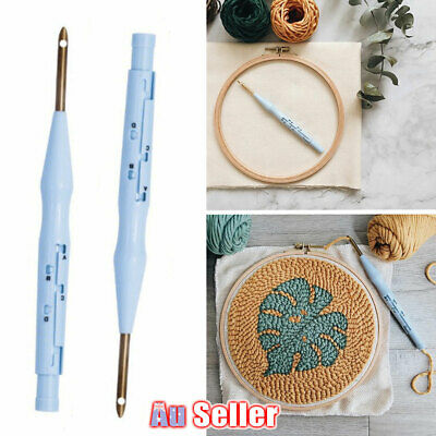 Punch Needle AU Pen Kit Stitching Embroidery Yarn Threader Rug Felting