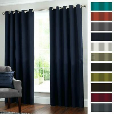 2 Blockout Curtains Eyelet Window Curtain Blackout Draperies Living Room Bedroom