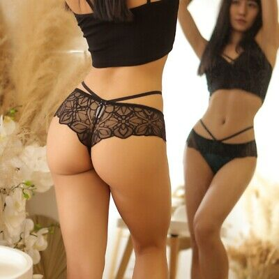 Briefs Thongs Panties Sexy Women Night Underwear Lace Soft Tangas Sheer G-string