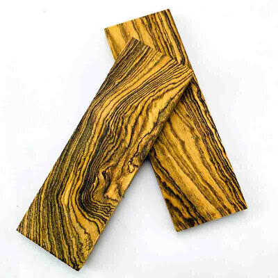 2x Mexico Cocobolo Wood For DIY Knife Handle Scales Blanks Making Plate Material
