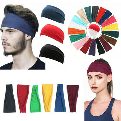 Sports Yoga Gym Stretch Cotton Headband Head Hair Band Armband Girls Women Men
