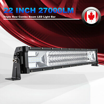 "22"" Triple Row LED Light Bar 270W Combo Beam Work Lights Auxiliary Driving Light"